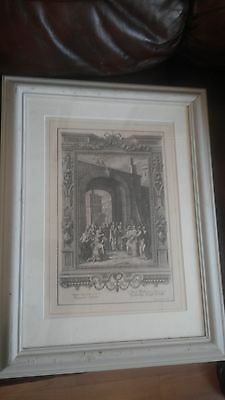 Antique Biblical Print Virginity Proof Gate, Tab. Ccc Sperling Scheuchzer 1731