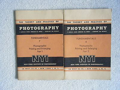 Lot of 2 Theory and Practice of Photography NY Institute of Photography Manuals