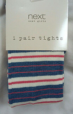 CHRISTMAS SALE Next  Girls Stripe Tights Age 11-12 Years BNWT
