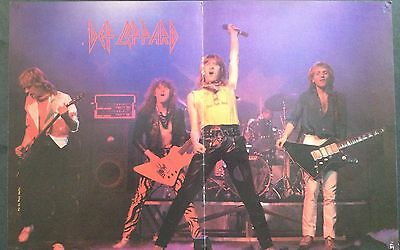 Def Leppard Vintage Rock Poster From Early 1980's