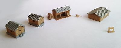 Outland Models Train Railway Layout Country Farm House Shed Cottage Set Z Scale