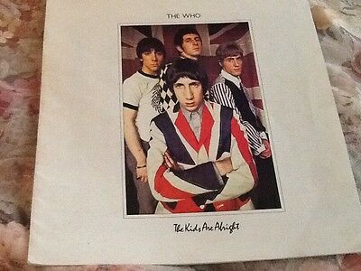 THE WHO The Kids Are Alright Paper Booklet LP INSERT