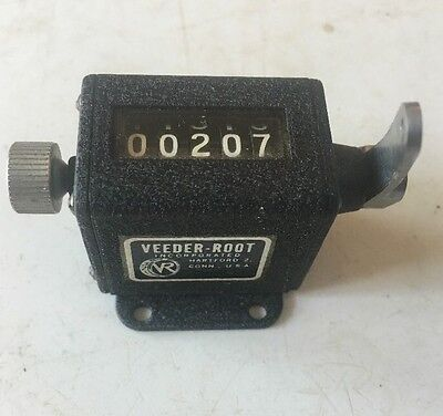 VEEDER-ROOT Mechanical counter 5 Digit Resettable UIXR LABEL HARTFORD 2 Conn USA