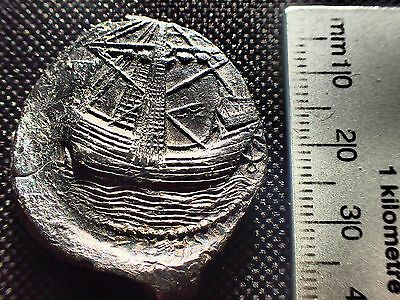 Rare Medieval Trading Lead Seal from Amsterdam with a Detailed Image of a Ship