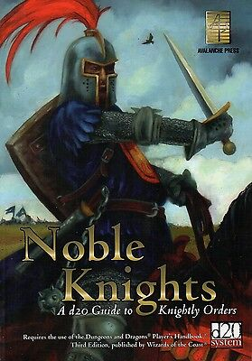 Noble Knights-a d20 Guide to Knightly Orders-RPG-Roleplaying Game-(SC)-very rare