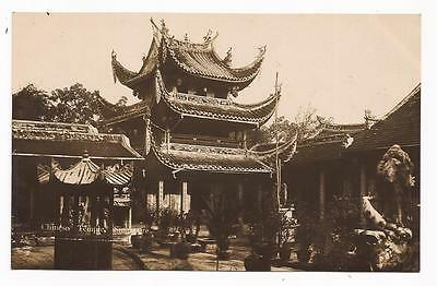 SINGAPORE - Chinese Temple, Vintage Real Photo Card.