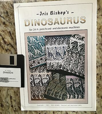Iris Bishop Dinosaurs with Disk for 24 Stitch Punchcard & Electronic Machines