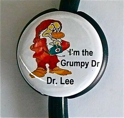 Id Stethoscope Name Tag The Grumpy One Medical Nurse Teachers, Airlines,