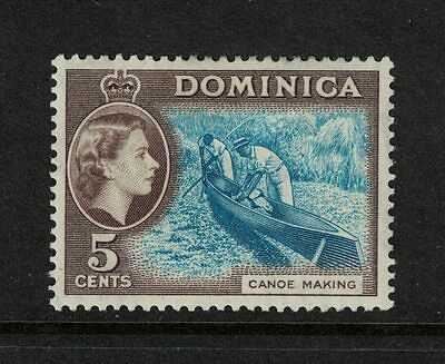 Dominica 1957 5 cents Light Blue and Sepia Brown Mint S G 147 Cat £16