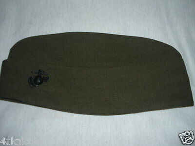 USMC Marine Corp Men's Garrison Alpha Cover 6 5/8 with EGA DLA POLY WOOL