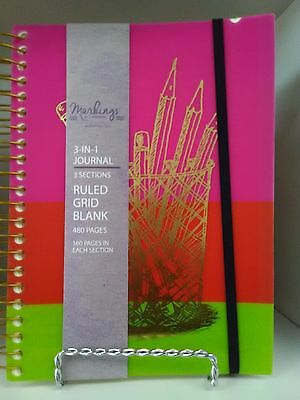 Colorful Markings 3 In 1 Journal 8.5  x 6