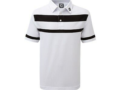 FootJoy Stretch Pique Engineered Stripe with Sleeve Stripe  Athletic fit