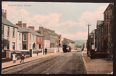 Causeway Street Portrush Co Antrim Postcard 1908 Ireland Trams
