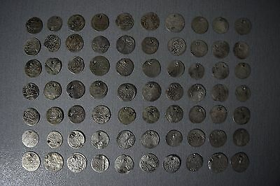 LOT of 70pcs SILVER OTTOMAN TURKISH TURKEY ISLAMIC ARABIC AKCE AKCHE COINS RARE