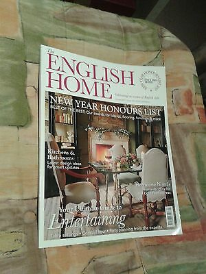 English Home magazine January 2017  slightly used read once on the train
