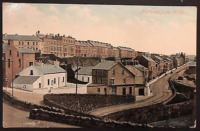 Portrush Co Antrim from N.W. Postcard 1900's Ireland Northern Counties Hotel.