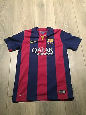 Barcelona Home Shirt 2014/15 Youths Large Rare