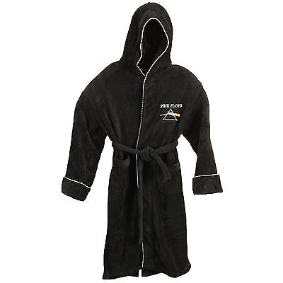 Pink Floyd Men's Dark Side Bath Robe One Size Black