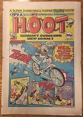 It's a HOOT UK Vintage Paper Comic First Issue No 1 (26 Oct 1985) NM!