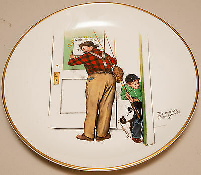 "Norman Rockwell Collectable Plate ""A Helping Hand"" (Very Good)"