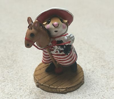 "Wee Forest Folk - Cowgirl ""Clippity-Clop"" Giddy-up , American Flag Version RARE"