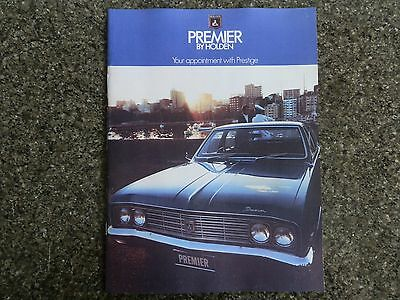 1970 Holden Hg Premier Sales Brochure  100% Guarantee