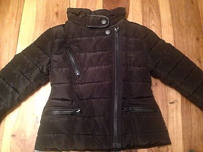 Next Girls Age 3 Years Black Shower Resistant Padded Jacket New With Tags RRP£30