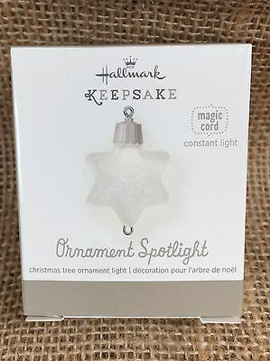Hallmark Keepsake Magic Cord Ornament Spotlight Light QXG4787 NEW