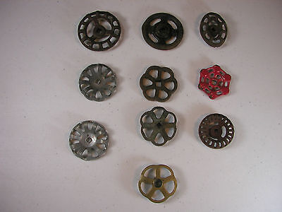 Lot of 10 Vintage Valve Water Faucet Knobs/Handles Industrial