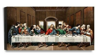 Framed The Last Supper Jesus Religious Canvas Prints Picture Wall Art Home Decor