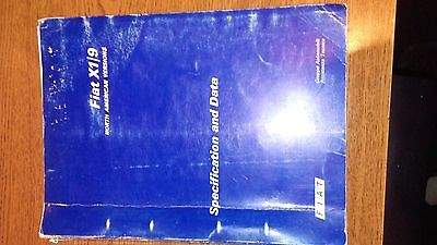 Fiat X1/9 Specification and data 1975  Original! North American Version