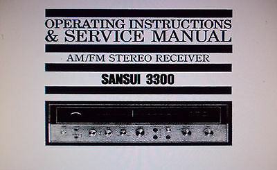 Sansui 3300 St Receiver Operating Instructions And Service Manual Schem English