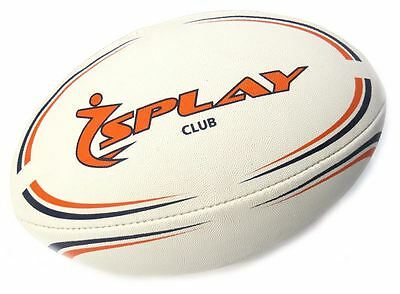 Splay Club Rugby Ball - (Orange) Size 4 Rubber Pre Match balls Training coaching