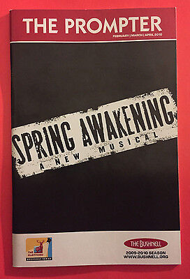 SPRING AWAKENING Signed Tour Playbill w/ Andy Mientus, Taylor Trensch 2010