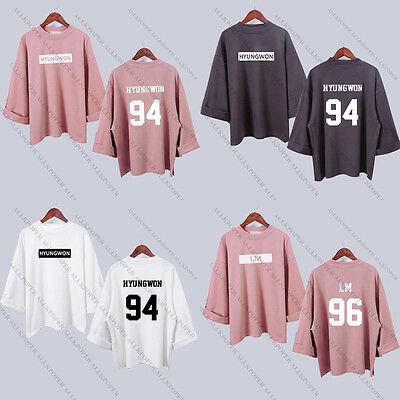 Kpop Monsta X Wide Sleeve Sweater Merchandise Women Jooheon Hoodie I.M Pullover