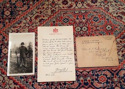 WW1 letter from King George 5th to U.S. Soldiers, 1918