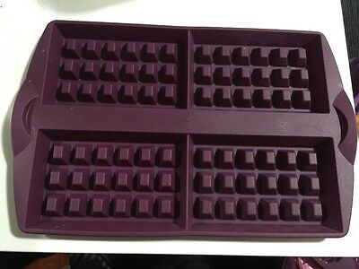 Tupperware Waffle Silicone Baking Form  - Purple  - New