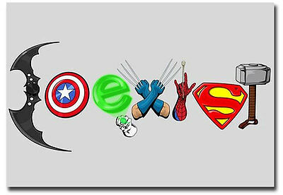 "Coexist DC Marvel Funny Fridge Toolbox Magnet Collectible Size 3.5""x 2.5"""