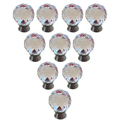 10 PCS Crystal Cupboard Door Drawer Knobs Cabinet Drawer Kitchen Pull Handle