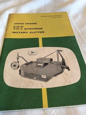 Vintage John Deere 127 Gyramor Rotary Cutter Owners Manuals