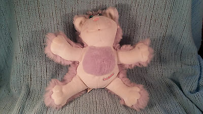 Vintage Fisher Price Purr-Tenders-Plush Cat-Purple White-Stuffed Animal-Guc 1987