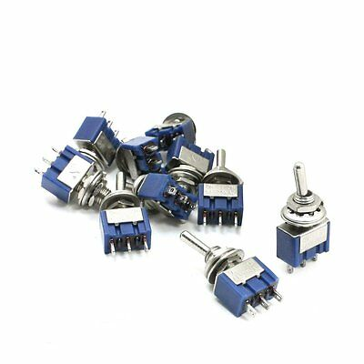 3-Position SPST Latching Mini Toggle Switch 6A 125VAC 3A 250VAC 10PCS LW