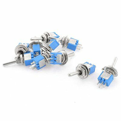 10PCS SPDT On/On 2 Position Miniature Toggle Switch AC 125V/3A LW