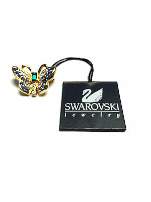 """SWAROVSKI"" Swan Signed Crystal Butterfly Brooch Pin - New"