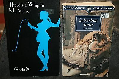 erotic paperback lot theres a whip in my valise + suburban souls sleaze  bdsm