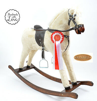 Large Beautiful Handmade Rocking Horse SUNNY MADE IN EUROPE Schaukelpferd