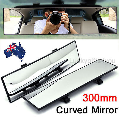 300mm Universal Car Rear View Mirror Convex Curve Interior Wide Blind Spot AU
