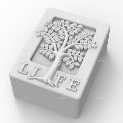 Soap Mold Silicone Craft Tree Rectangle Soap Making Mould DIY Candle Resin Mold
