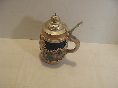 Lidded Beer Mug Stein