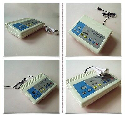 Digital Ultrasonic Ultrasound Facial Body Pain Relief Massager Beauty Therapy Sk